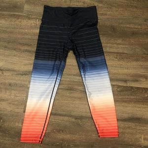 GAPFit High Rise Gradient Stripe 7/8 legging